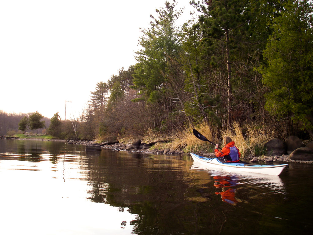 The Portage Canal is a popular spot for paddlers in the Keweenaw Peninsula