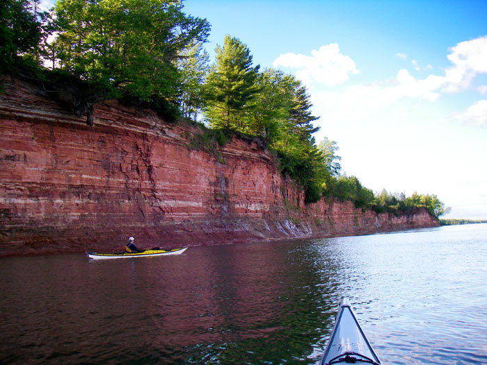 The Keweenaw Water Trail is a complete loop for sea kayaks and canoes that circles the tip of the Keweenaw Peninsula