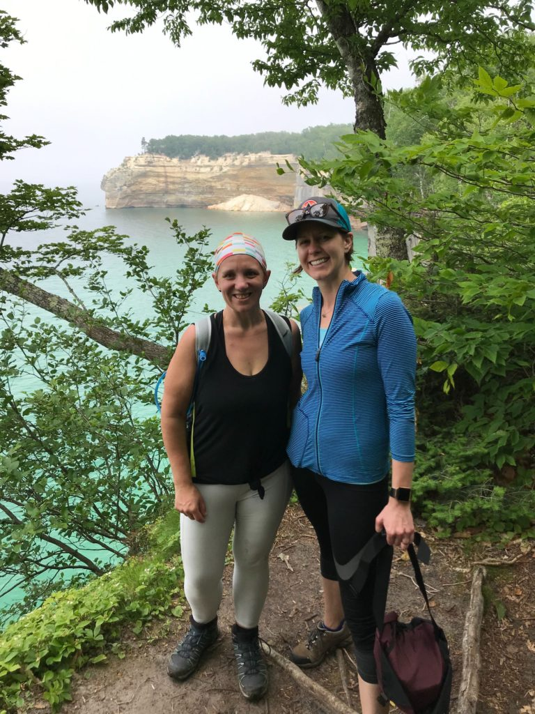 The Pictured Rocks on Michigan's Upper Peninsula is a popular hiking destination