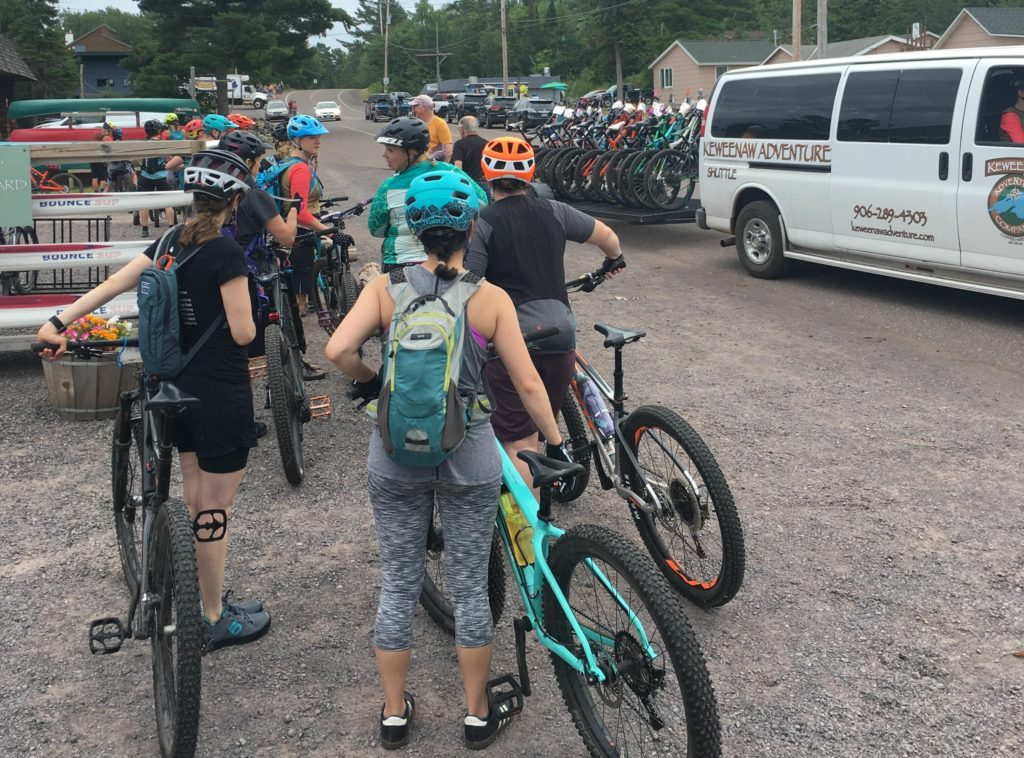 The Keweenaw Adventure Company offers a mountain bike shuttle so you can skip the climb and hit the trails